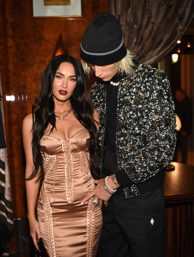 """When it comes to stylish celebrity couples, a few come to mind — Gigi Hadid and Zayn Malik, Dua Lipa and Anwar Hadid, Beyoncé and JAY-Z . . . the list goes on. But what makes these duos stand out isn't just whipping up great outfits; they find ways to complement each other without compromising their own personal flair, creating fashion moments to remember. A (relatively) new couple on the scene, Megan Fox and Machine Gun Kelly have done just that, quickly developing a striking sense of couple style that has put them at the top of my watch list. The actress and the rapper have always been fashion risk-takers — Megan practically wrote the book on sexy red carpet looks and MGK's rocker style requires a whole lot of experimentation — and together, their daring pop-punk approaches just work, without feeling too cheesy or matchy-matchy.  And yes, their coordination is totally planned. """"That's something I started with him because he's such a flamboyant dresser that I can't really pull off the sweatpants and the yoga gear anymore,"""" the actress recently revealed on Jimmy Kimmel Live. """"I have to elevate myself to his level 'cause he's always covered in like, grommets, zippers, sequins, everything's pink, everything's glowing. He's always coming off of a stage, a show, so I have to kind of match what he's doing, so we do coordinate often."""" While we can always expect their matching looks at awards shows to outshine everyone else, the couple's most fashionable moments aren't just reserved for red carpets. Even their laid-back date-night outfits manage to look expertly coordinated with minimal effort. Ahead, take a look back at the pair's best looks together.      Related:                                                                                                           I Can't Be the Only One Obsessing Over Megan Fox's Style Lately, Right?"""