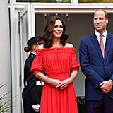 Kate Middleton's Red Alexander McQueen Dress February 2019