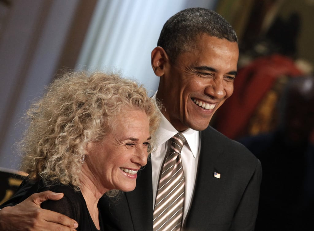 Barack Obama was all smiles with Carole King at a concert in her honor in May 2013.