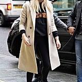 Sophie Turner in a Knee-Length Coat in 2020