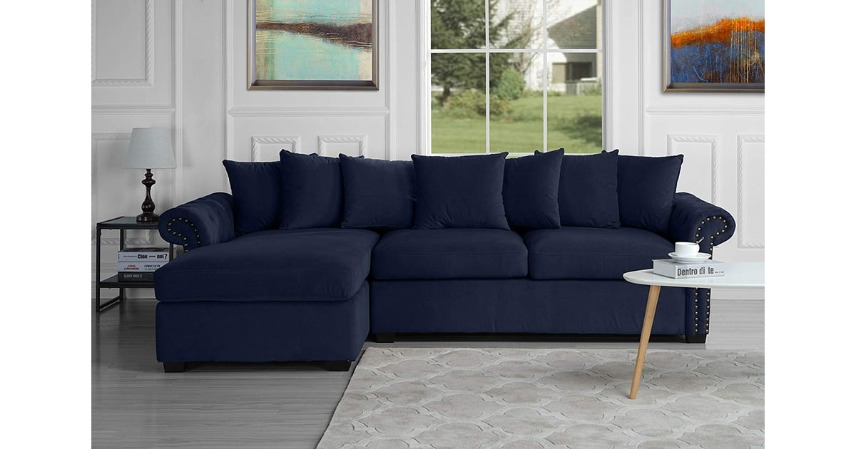 Modern Large Tufted Velvet Sectional Sofa | Best Sectional ...