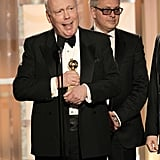Julian Fellowes accepted a Golden Globe.