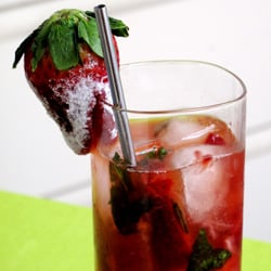 Spring Cocktail: Strawberry, Basil, and Gin Drink Recipe