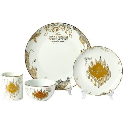Seven20's Harry Potter Marauder's Map 16-Piece Porcelain Dinnerware Set