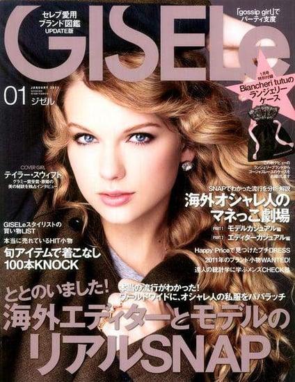Taylor Swift covers Gisele Japan-january 2011