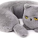 Smoko Heated Grumpy Cat Neck Pillow