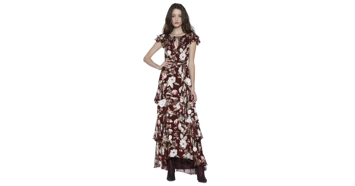 43a8fbd32709 Alice + Olivia Jenny Flutter-Sleeve Maxi Dress | Best Maxi Dresses Summer  2018 | POPSUGAR Fashion Photo 5