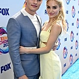 Gregg Sulkin and Michelle Randolph at the Teen Choice Awards 2019