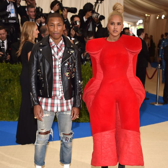 Pharrell Williams and Wife Helen at the 2017 Met Gala