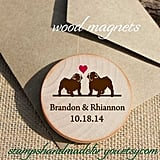 Custom Wooden Dog Heart Magnets