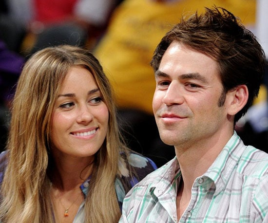 Photo Slide of Lauren Conrad and Kyle Howard at a Lakers Game