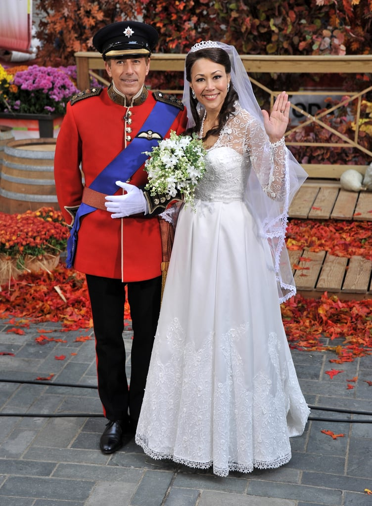 Matt Lauer was dressed as Prince William for Halloween 2011 with Ann Curry as Kate Middleton.