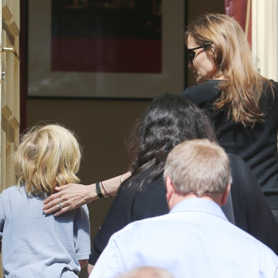 Angelina Jolie With Kids in Berlin