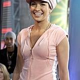 Jeninifer Lopez sported a velour tracksuit for her 2002 TRL visit.