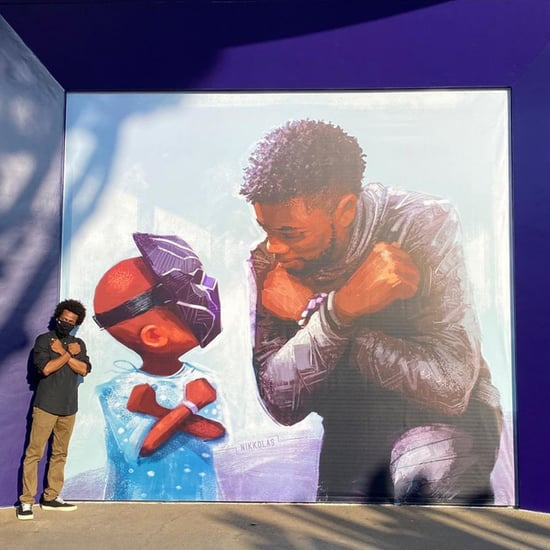 Black Panther Mural With Chadwick Boseman at Disneyland