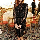 Paz Vega chose a lacy black Elie Saab sheath and Casadei pumps for the annual Finch's Quarterly Review Filmmakers Dinner.