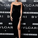 She Attended a Bulgari Event in a Strapless Slitted Ester Abner Dress and Jewels