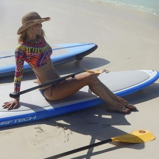Christie Brinkley Bikini Pictures in Turks and Caicos 2015