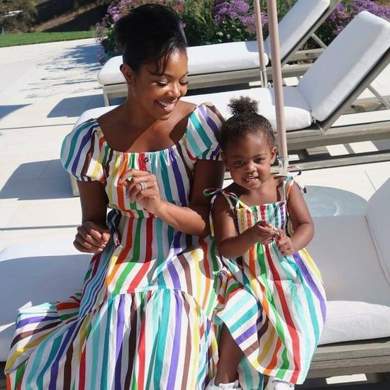 Gabrielle Union and Kaavia Wear Caroline Constas Dresses