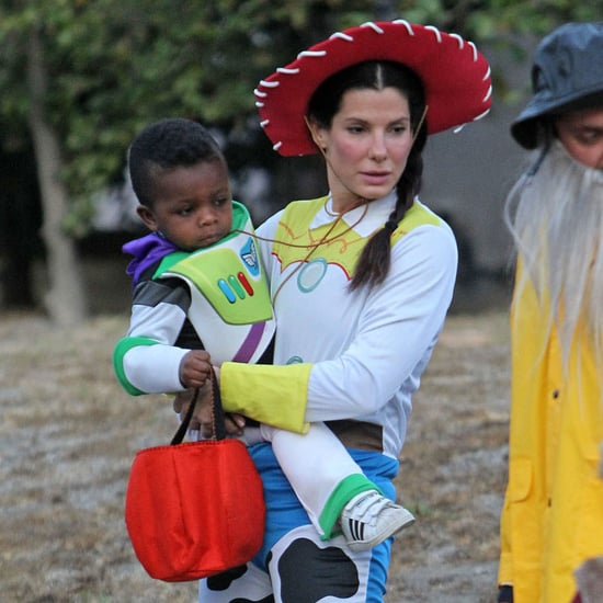 Sandra and Louis Bullock in Toy Story Costumes | Pictures