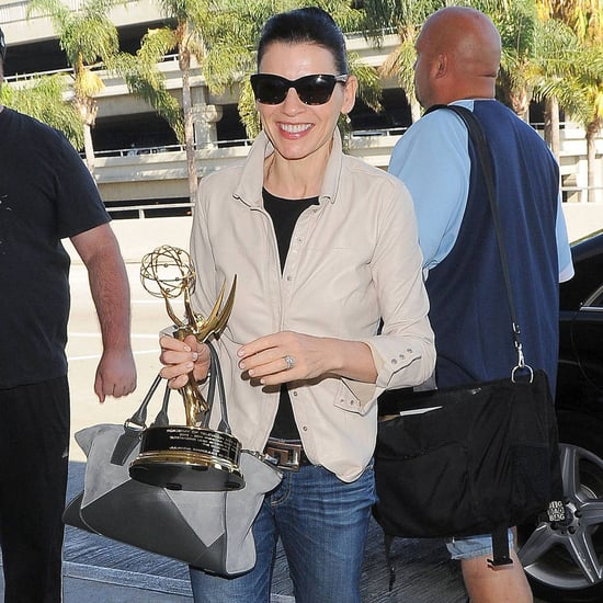 Julianna Margulies Flying With Her Emmy | Pictures