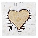 Golden Heart Canvas Art