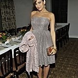 Eva Mendes got glammed up for a dinner at the Chateau Marmont in LA on Tuesday evening.
