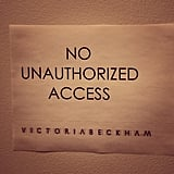 "Victoria Beckham wrote with this photo, ""Keep out, I'm stressed!"" Source: Instagram user victoriabeckham"