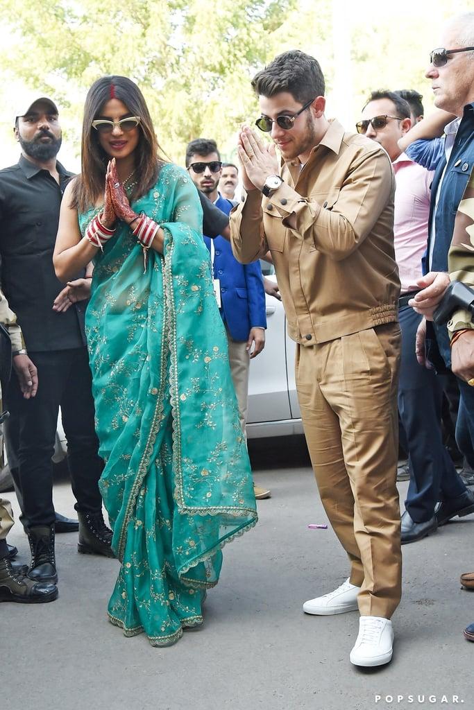 Nick Jonas and Priyanka Chopra Out in India After Wedding