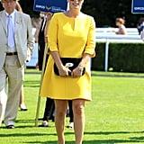 She Often Wears the Shade on Bright Minidresses