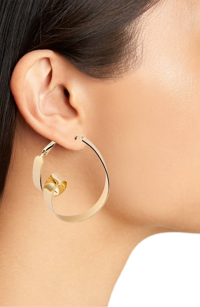 Area Stars Modern Hoop Earrings