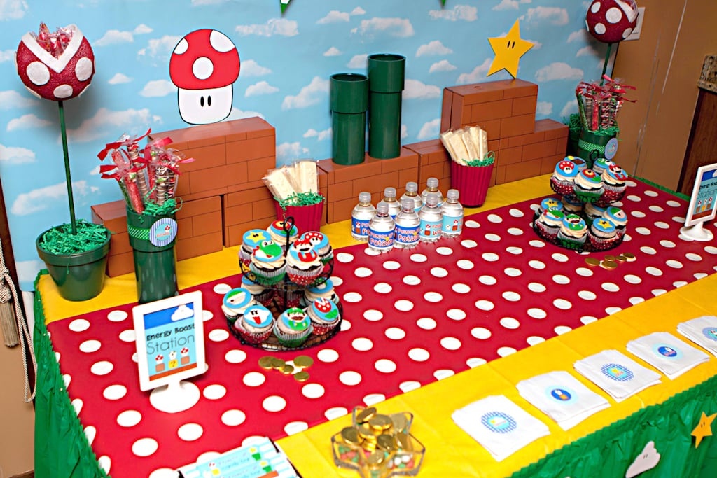Super Mario Birthday Party POPSUGAR Moms