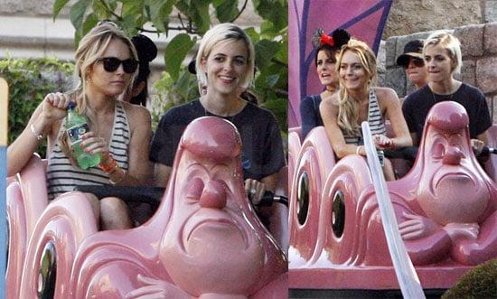 Photos of Lindsay Lohan and Samantha Ronson at Disneyland 2008-07-07 07:05:00