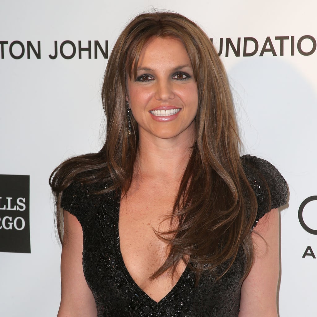 Britney Spears's Brown Hair Color 2013