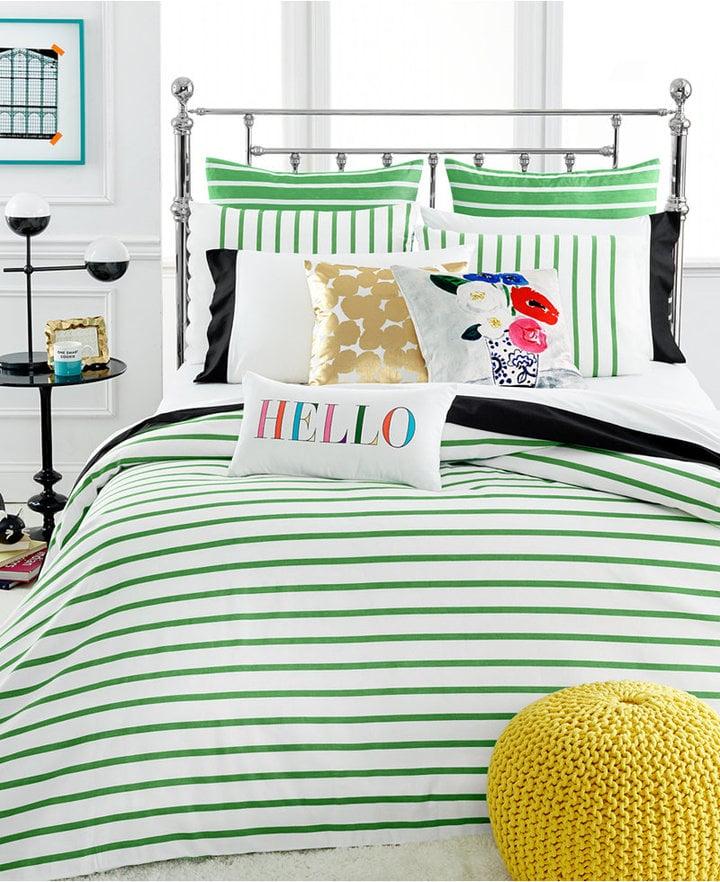 Stripe Picnic Green Twin Duvet Cover Set ($160)