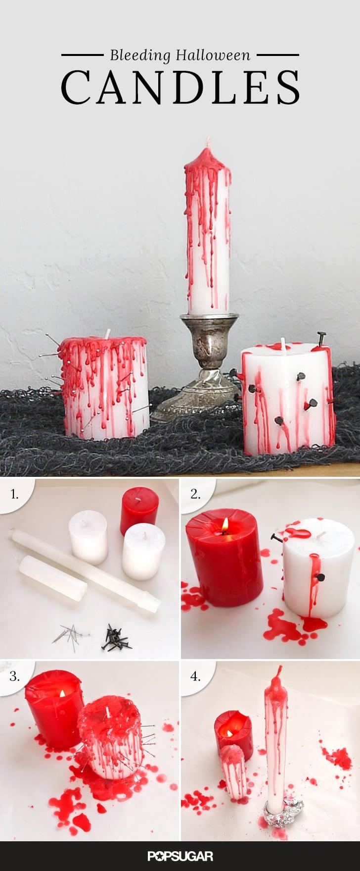 bleeding halloween candles popsugar smart living - Halloween Candles