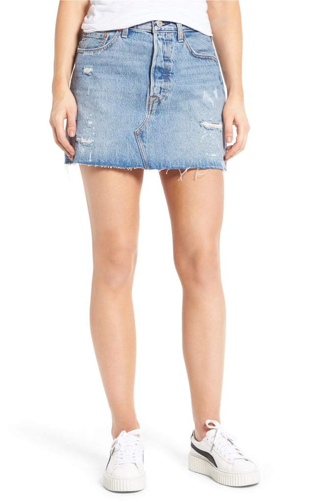 d518ff945c Levi's Deconstructed Denim Skirt | Best Levi's Denim 2018 | POPSUGAR ...