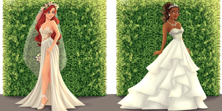 This Artist Reimagined Disney Princesses As Brides, and I Could Stare At Their Gowns For Hours