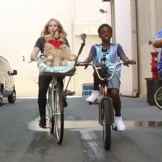 Stranger Things Biking on the Chelsea Handler Show 2016