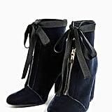 Zara High Heel Velvet Ankle Boots ($70)