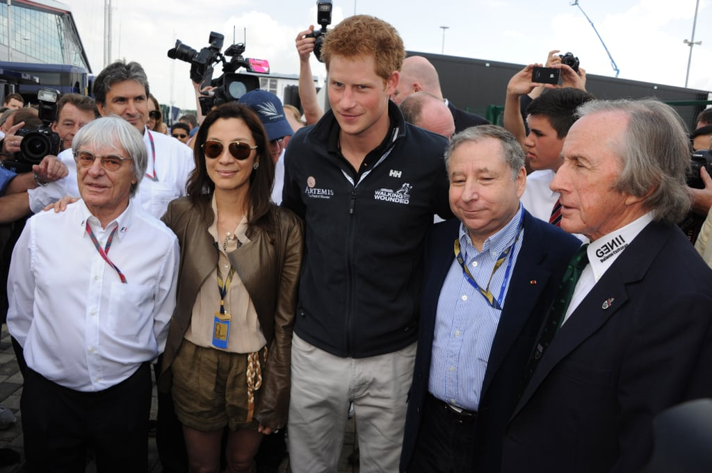 Prince Harry at the British Grand Prix.