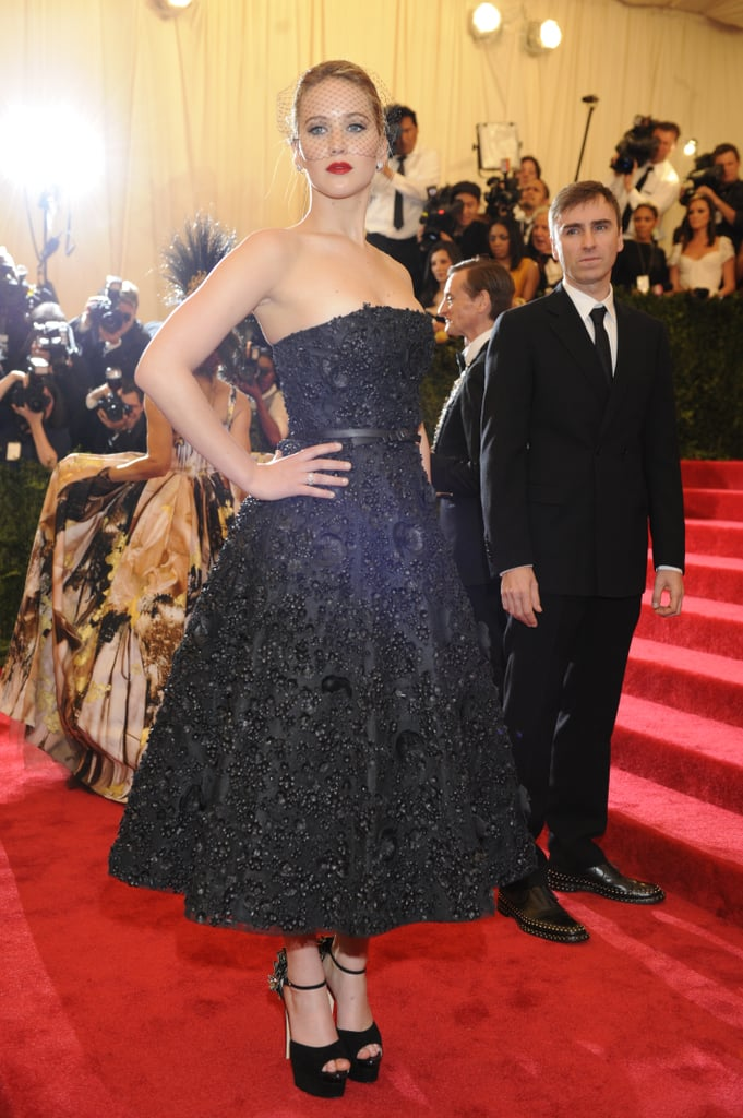 The face of Miss Dior went for a tea-length dress by the brand for the most recent Met Gala red carpet.