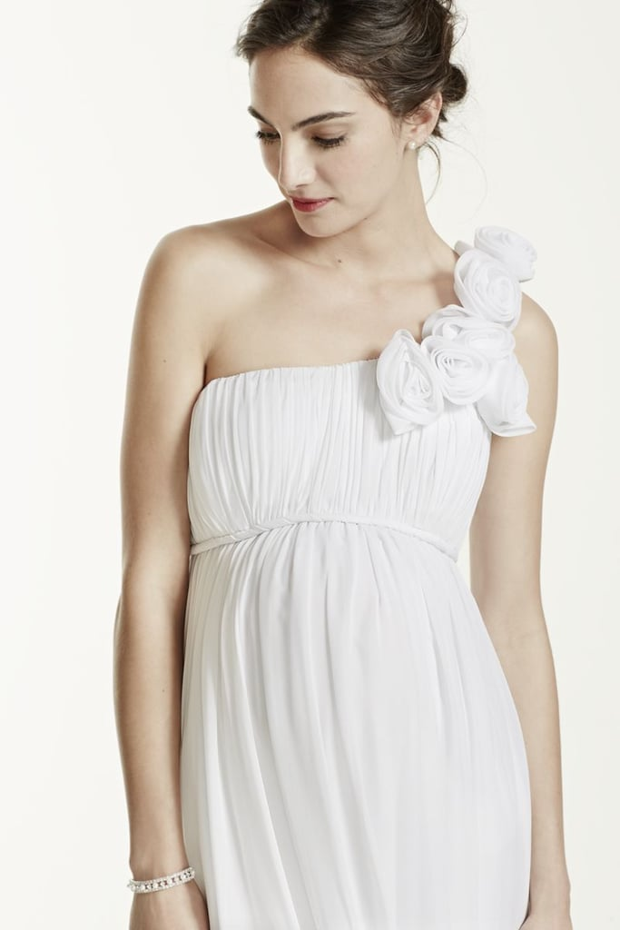 d1f846dc7ca89 David's Bridal One Shoulder Chiffon Maternity Dress | Maternity ...
