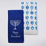 """Happy Hanukkah"" Candlelight Kitchen Towel 2-pk. ($14)"