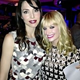 Whitney Cummings and Beth Behrs posed together at an event. Source: Twitter user BethBehrs