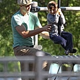 Tom Brady at the Playground With His Boys | Pictures