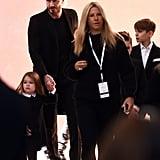 Romeo and Cruz Beckham were also at the event.