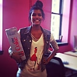 Assistant editor Brittney Stephens put on her Diet Coke best for a midday pick-me-up — we were really into it.