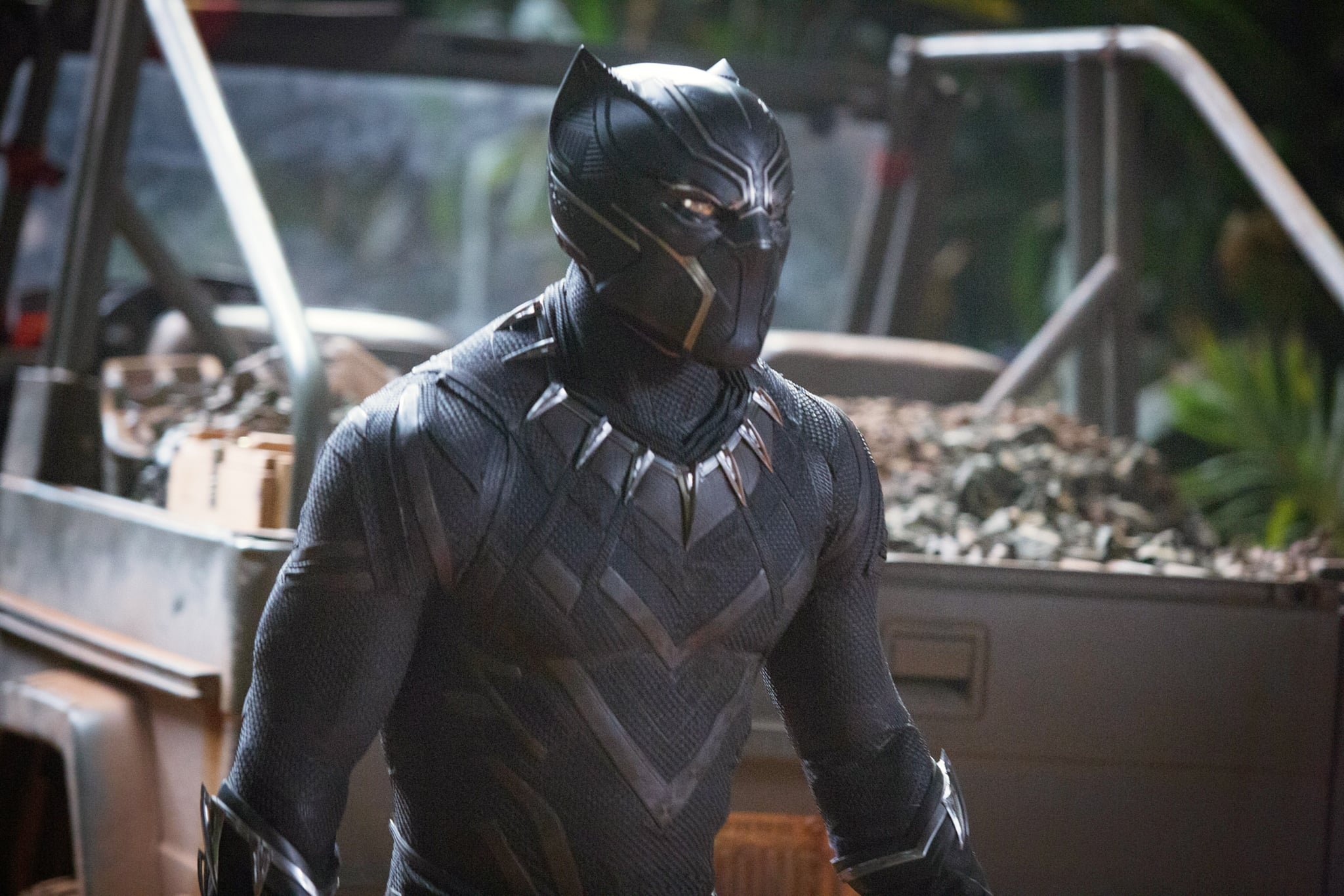 BLACK PANTHER, Chadwick Boseman as Black Panther, 2018. ph: Matt Kennedy / Marvel /  Walt Disney Studios Motion Pictures /Courtesy Everett Collection