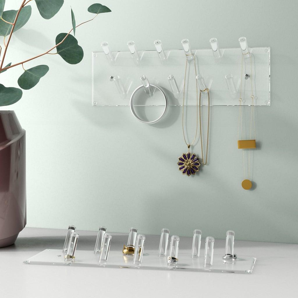 Multipurpose Acrylic Wall Mounted Jewelry Holder